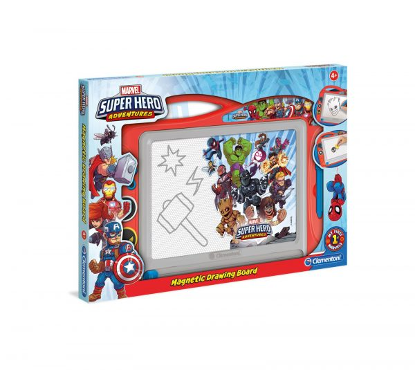 Clementoni - Lavagna Magnetica - Super Hero Adventures Marvel Avengers