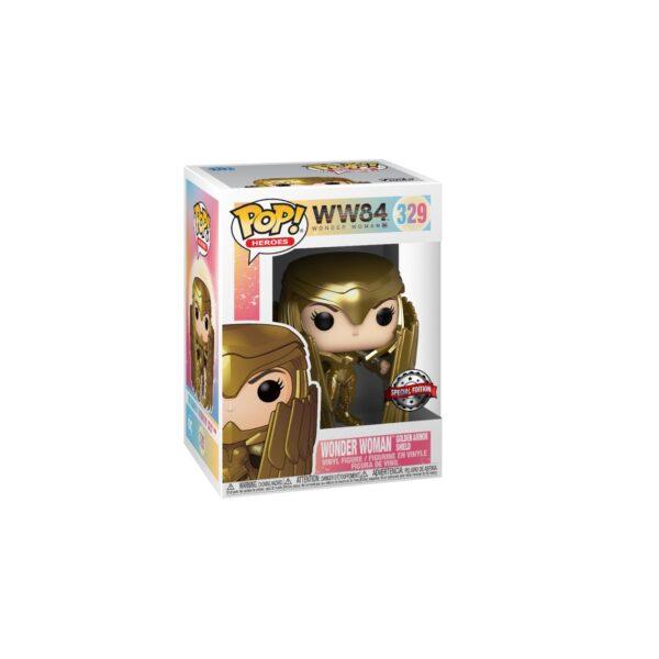 ESCLUSIVO FUNKO POP Heroes: Wonder Woman 1984 - Wonder Woman Scudo Oro (MT)