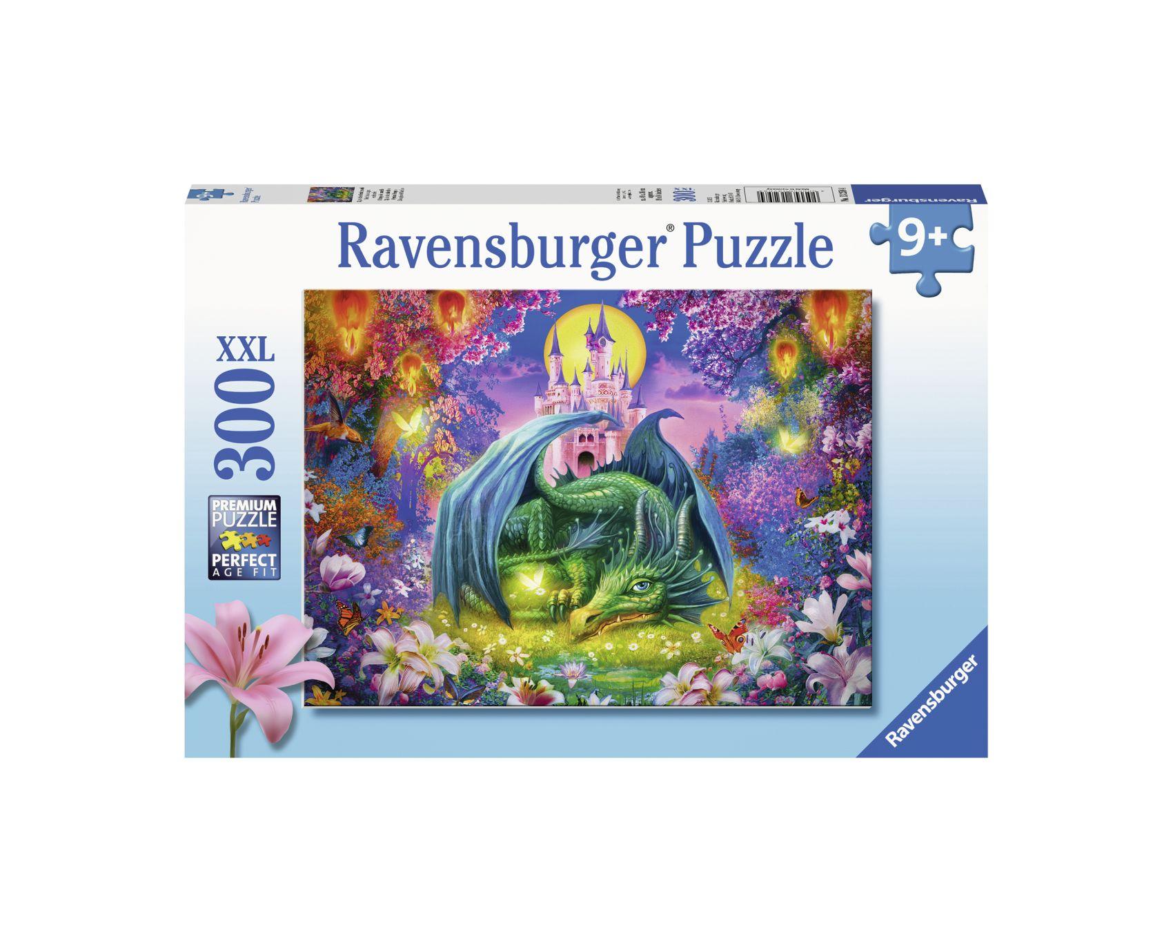 Ravensburger puzzle 300 pezzi xxl - il drago del castello -