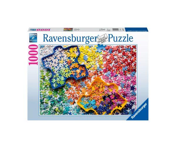 Ravensburger Puzzle 1000 Pezzi - Preparazione puzzle
