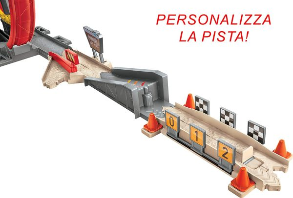 Disney Pixar Cars, XRS Pista Rocket Racers Super Loop con Saetta Mcqueen    Cars 3