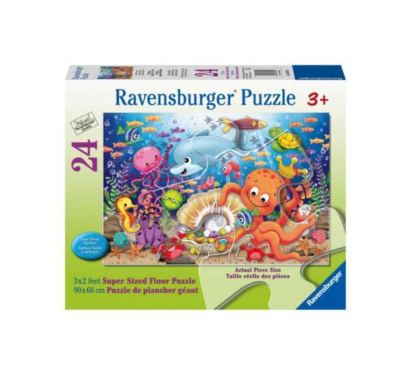 Ravensburger Puzzle 24 Giant Pavimento - La fortuna di Fishie