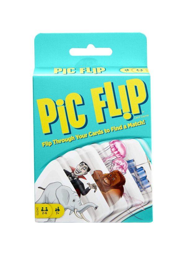 Mattel Games Pic Flip Gioco di Carte, Regalo per Bambini 7+ Anni MATTEL GAMES