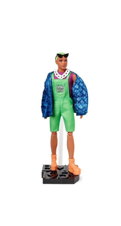 Barbie BMR1959 Ken con Giacca e Tuta Fluorescente, Bambola Snodata Barbie