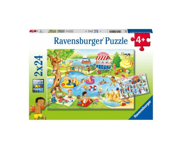 Ravensburger Puzzle 2x24 - Tempo libero al lago