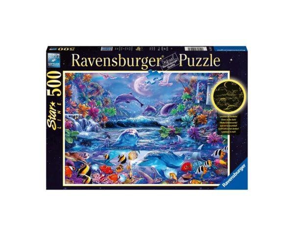 Ravensburger Puzzle 500 Pezzi - Alla luce della luna magica