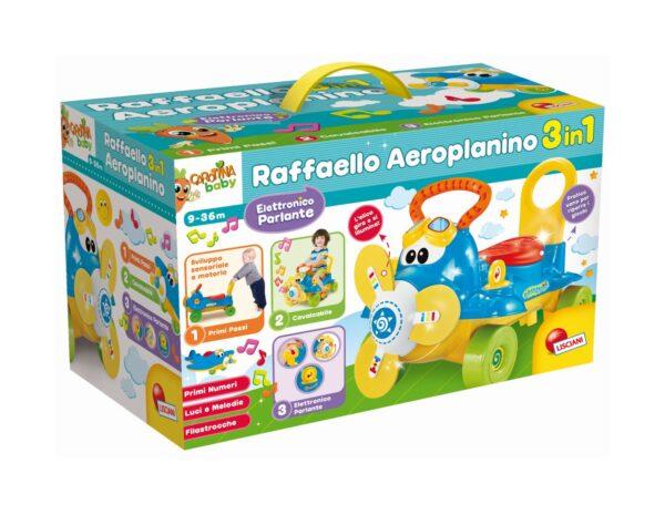 LISCIANI - CAROTINA BABY RAFFAELLO AEROPLANINO 3 IN 1
