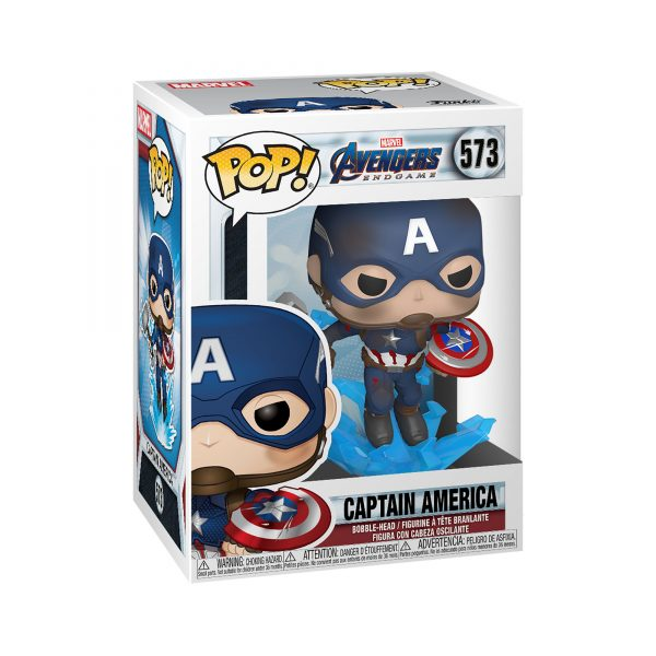 FUNKO POP Marvel: Endgame- Captain America con Scudo rotto