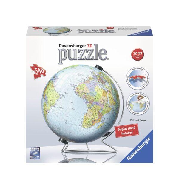 Ravensburger Puzzle 3D - Globo 540 Pezzi