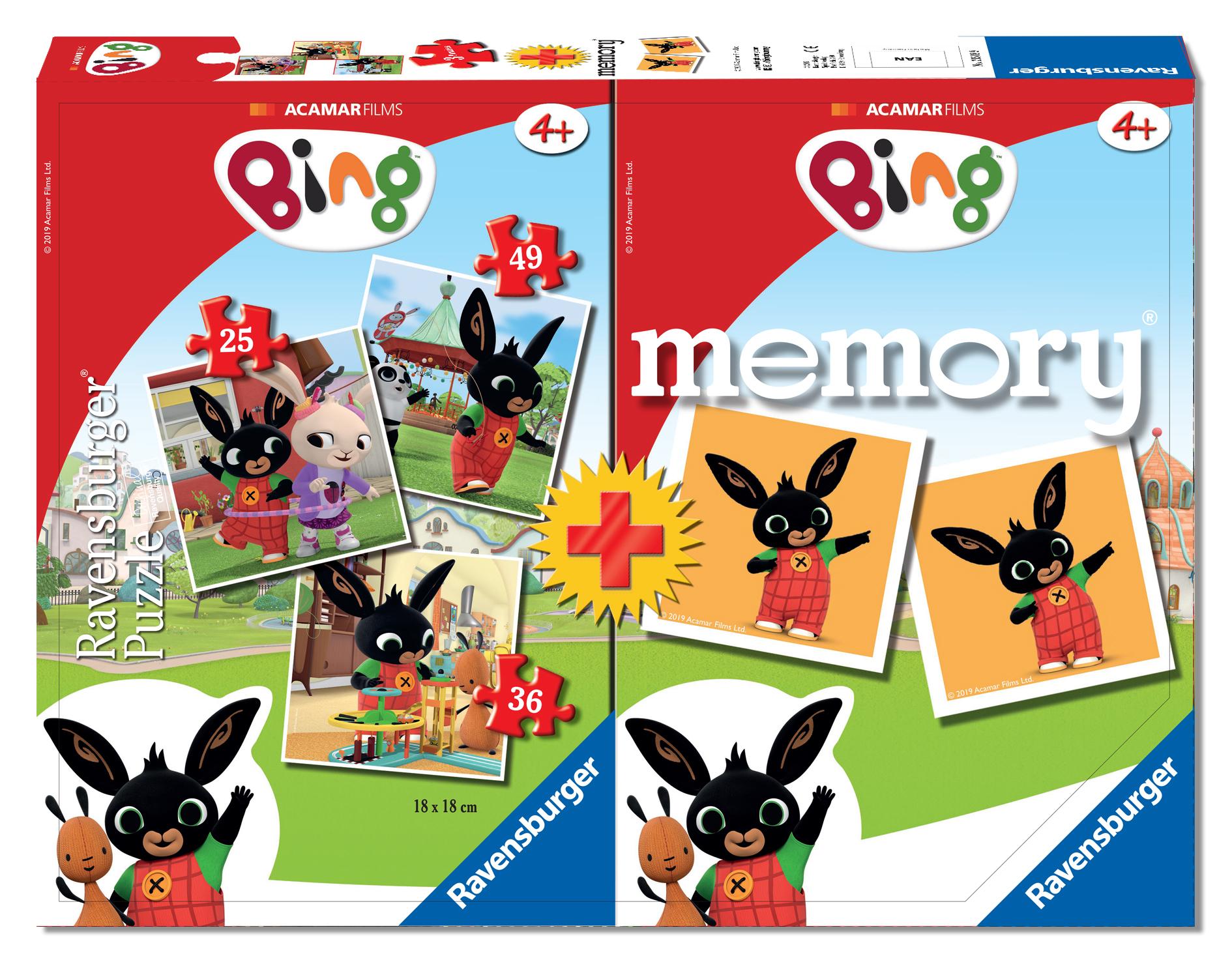 Ravensburger multipack memory®+ 3 puzzle - bing -