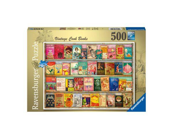 Ravensburger Puzzle 500 Pezzi - Libri di cucina vintage