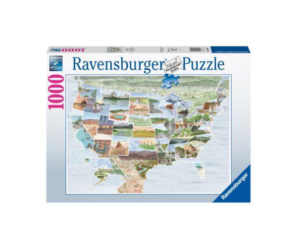 Ravensburger Puzzle 1000 Pezzi - Da costa a costa