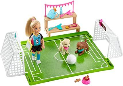 Barbie Dreamhouse Adventures, Playset Calcio con Bambola Chelsea Barbie