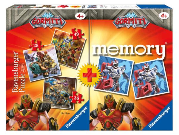 Ravensburger Multipack memory®+ 3 puzzle - Gormiti