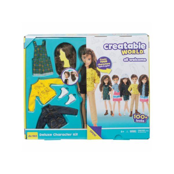 creatable world  Mattel-Creatable World Deluxe Kit, Personaggio Personalizzabile con Accessori, 100 Combinazioni