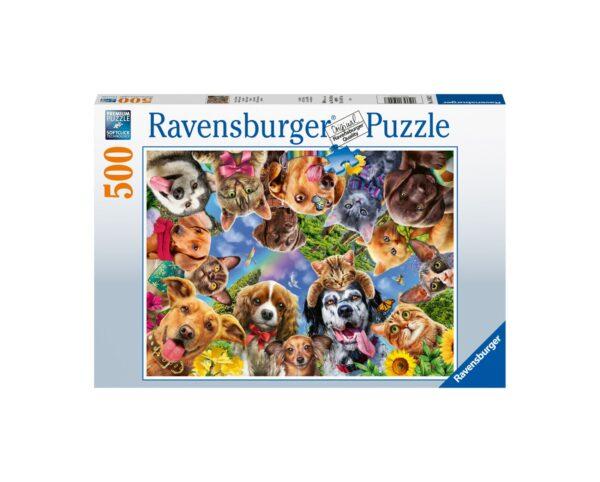 Ravensburger Puzzle 500 Pezzi - Selfie di animali simpatici