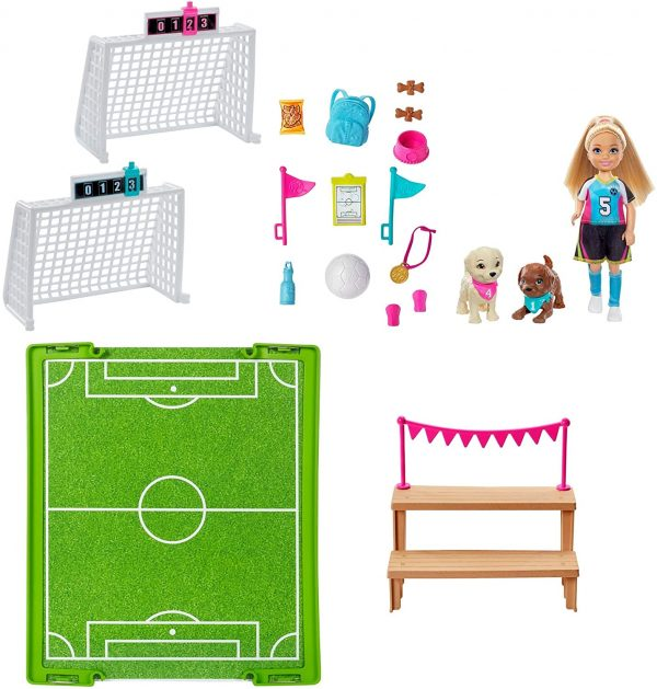 Barbie  Barbie Dreamhouse Adventures, Playset Calcio con Bambola Chelsea