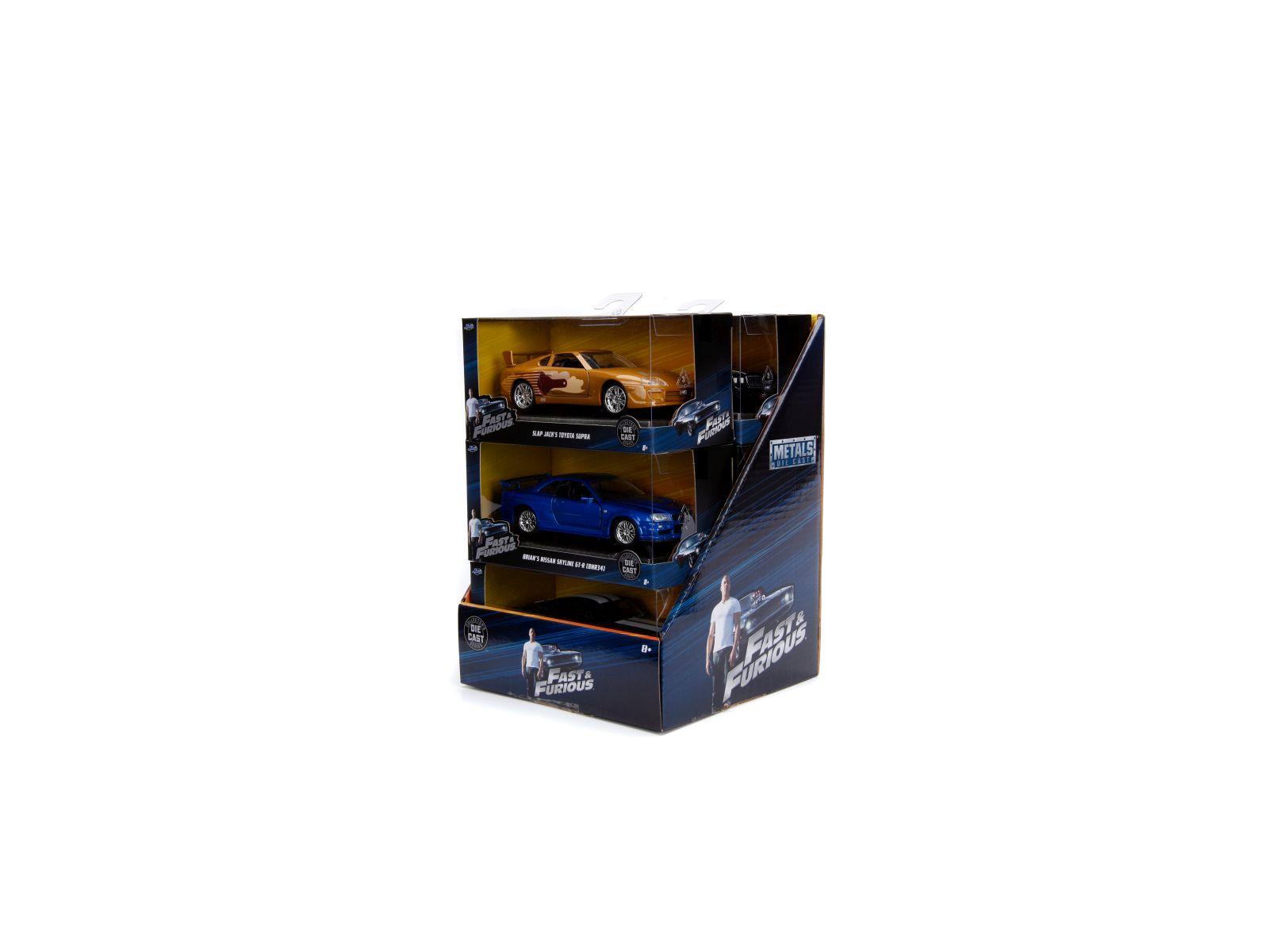 Fast & furious veicoli in display 1:32 die-cast 15 cm -