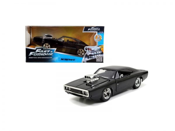 Fast & Furious 1970 Dodge Charger R/T nera  1:24 die-cast 24 cm