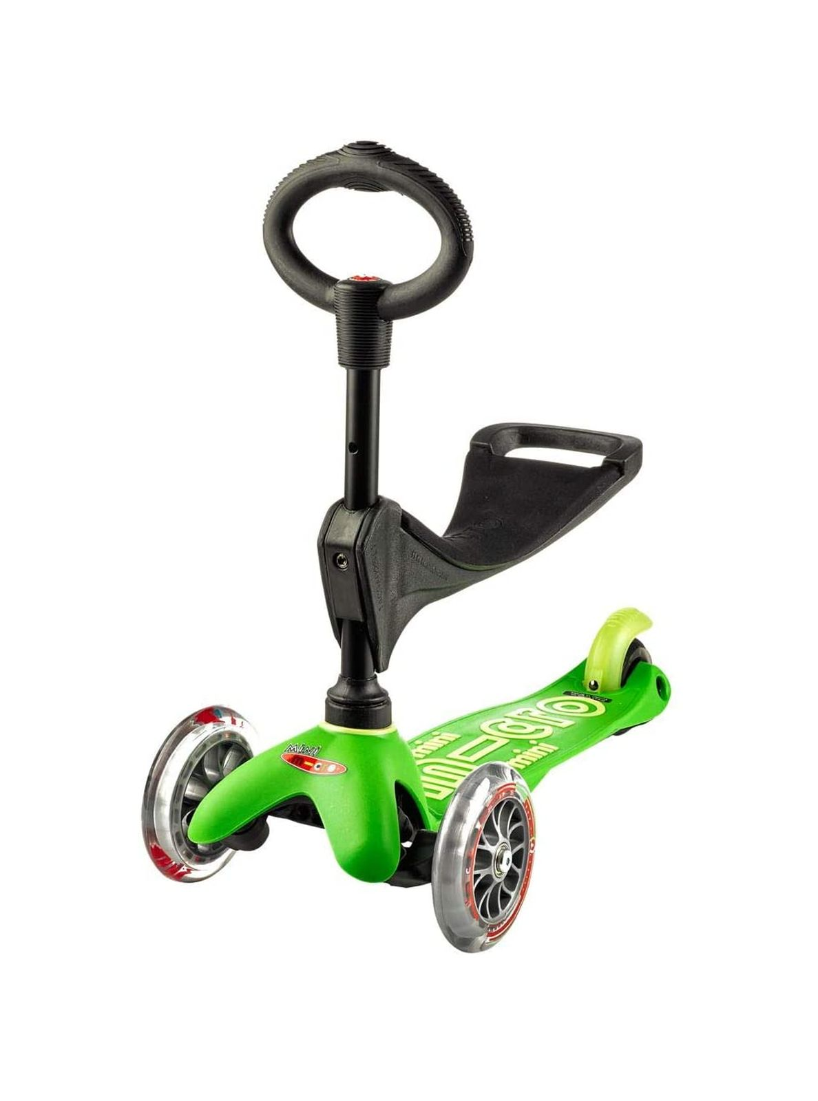 Micro  monopattino mini micro 3 in 1 deluxe verde -