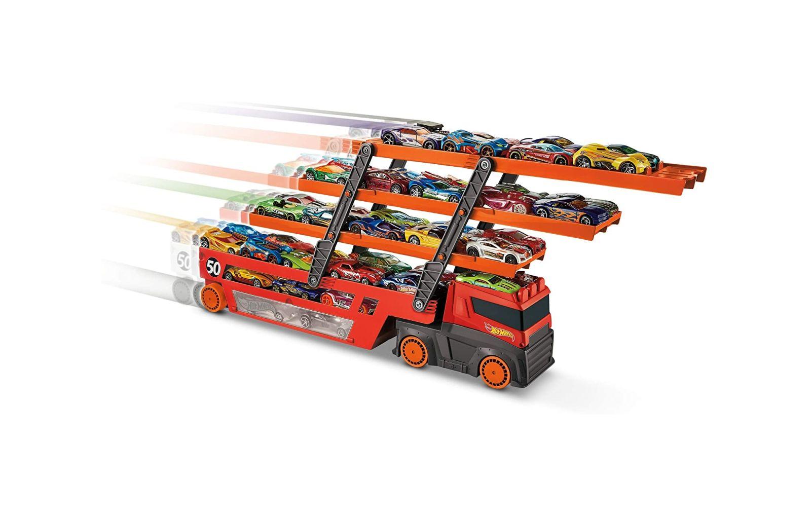 Hot wheels mega trasportatore, camion per veicoli - Hot Wheels