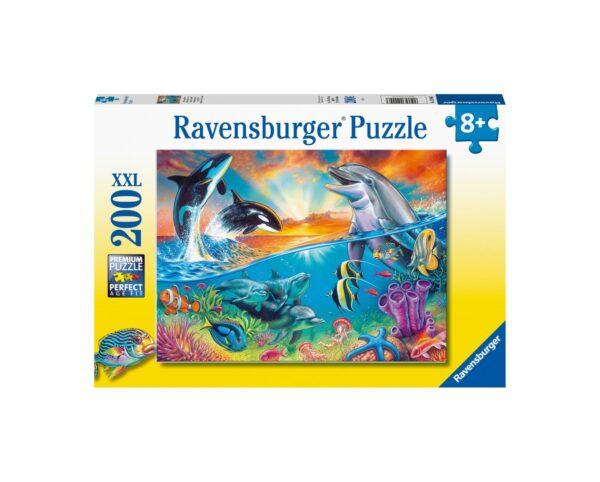 Ravensburger Puzzle 200 Pezzi XXL - Abitanti dei mari
