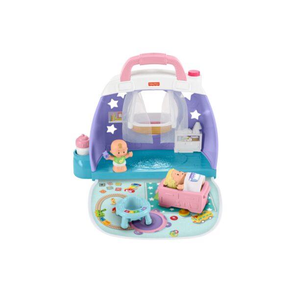 FISHER-PRICE   Fisher-Price- Little People Babies Stanza dei Sogni con 2 Accessori, Giocattolo per Bambini 12+ Mesi
