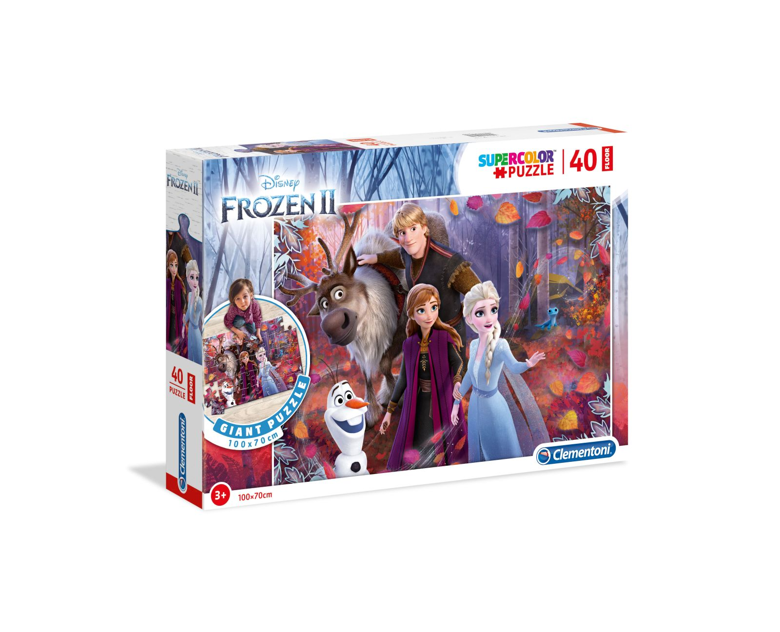 Clementoni - 25464 - floor puzzle - disney frozen 2, puzzle bambini pavimento -