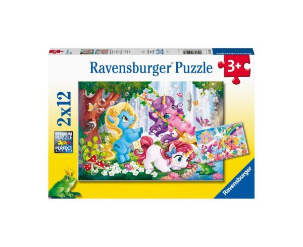 Ravensburger Puzzle 2x12 - Magico mondo di unicorni