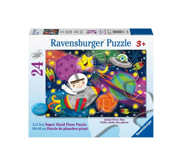 Ravensburger Puzzle 24 Giant Pavimento - Razzo spaziale