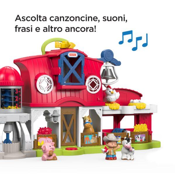 Fisher-Price - Little People Fattoria degli Animali Felici, con Suoni e Musica, Giocattolo per Bambini 1+ Anni Unisex 12-36 Mesi, 3-4 Anni, 3-5 Anni