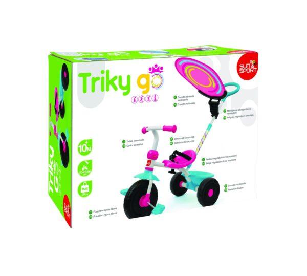 SUN & SPORT TRICICLO TRIKY GO GIRL ALTRI Maschio 0-12 Mesi, 12-36 Mesi, 3-5 Anni SUN&SPORT