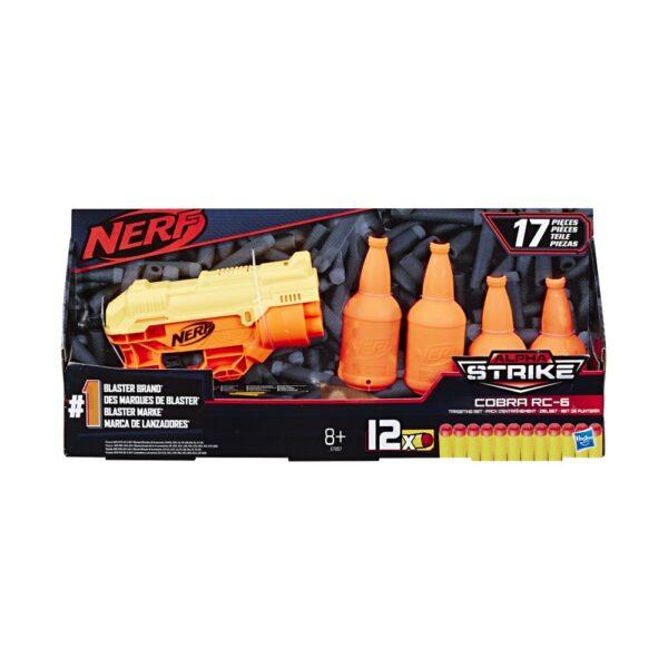 Pistola Nerf Alpha Strike Cobra con bersagli