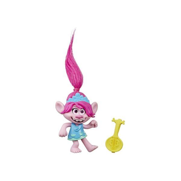 Trolls World Tour - Poppy con Ukulele (bambola collezionabile ispirata al film)