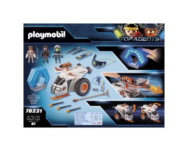 SLITTA CORAZZATA DELLO SPY TEAM    Playmobil