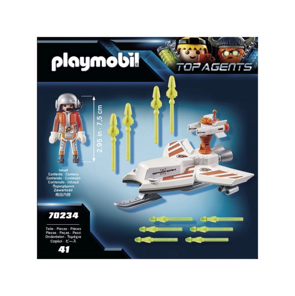 SLITTA VOLANTE DELLO SPY TEAM    Playmobil