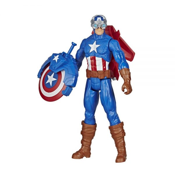 Avengers - Captain America 30cm con Blaster Titan Hero Blast Gear