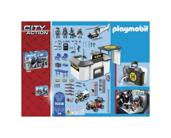 CENTRALE PORTATILE DELL'UNITÀ SPECIALE DI POLIZIA    Playmobil