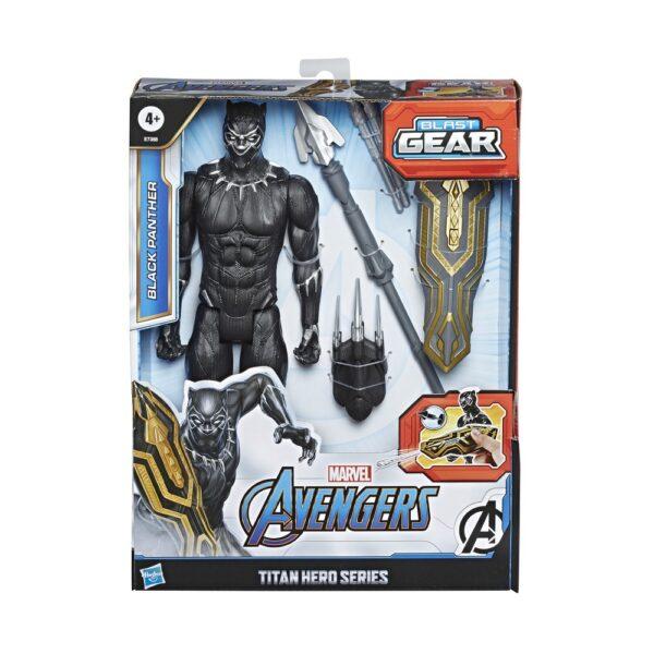 Avengers - Black Panther 30cm con Blaster Titan Hero Blast Gear