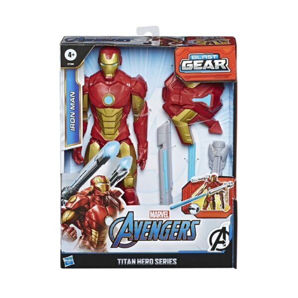 Avengers - Iron Man 30cm con Blaster Titan Hero Blast Gear