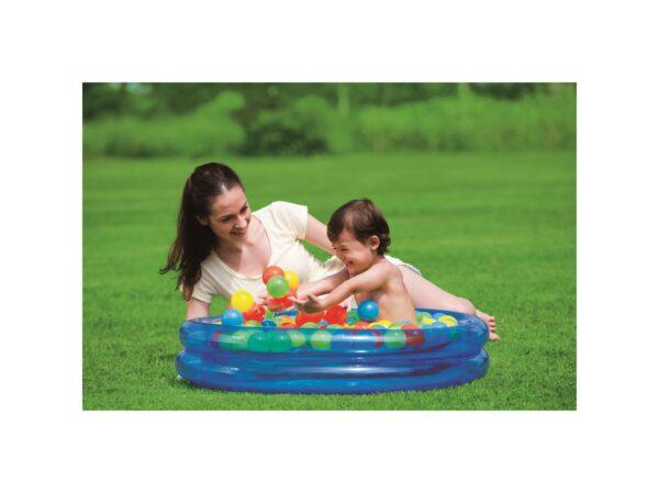 BESTWAY PISCINA BABY CM. 91X20, INCLUDE 50 PALLINE ALTRI Unisex 3-4 Anni ALTRO