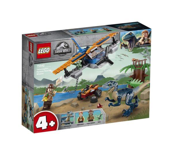 LEGO Jurassic World Velociraptor: salvataggio in biplano - 75942
