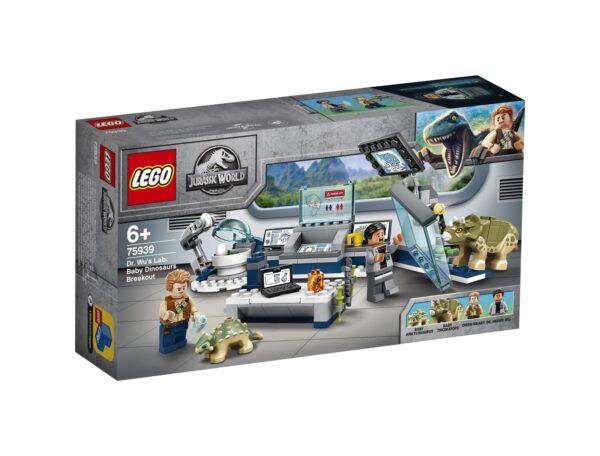 LEGO Jurassic World Il laboratorio del Dottor Wu: fuga dei baby dinosauri - 75939