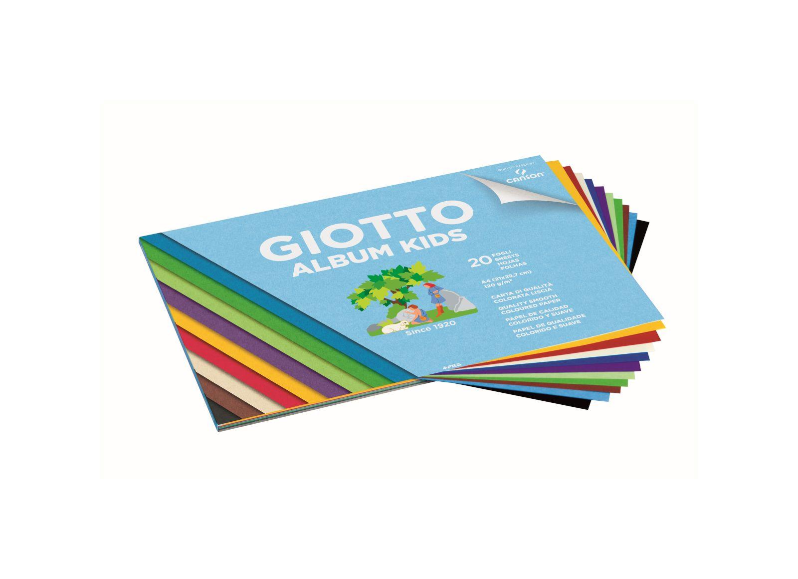 Giotto album carta colorata liscia 20fogli 120gm2 - GIOTTO