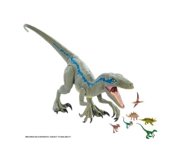 Jurassic World  Jurassic World - Dino Rivals Velociraptor Blu Dinosauro Articolato