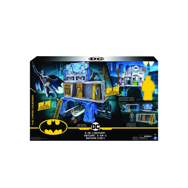 BATMAN Playset Batcaverna e Gotham City