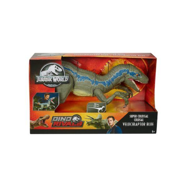 Jurassic World - Dino Rivals Velociraptor Blu Dinosauro Articolato   Jurassic World