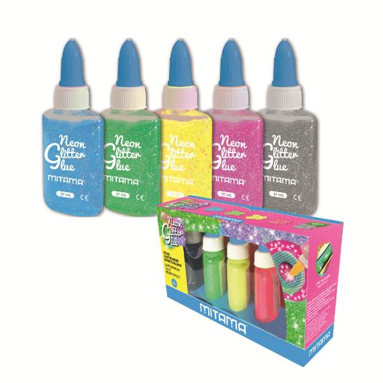 Colla Glitter Neon Mitama 5 pz