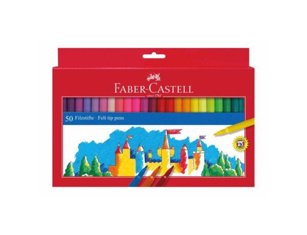 Pennarelli Castello a punta fine 50 colori