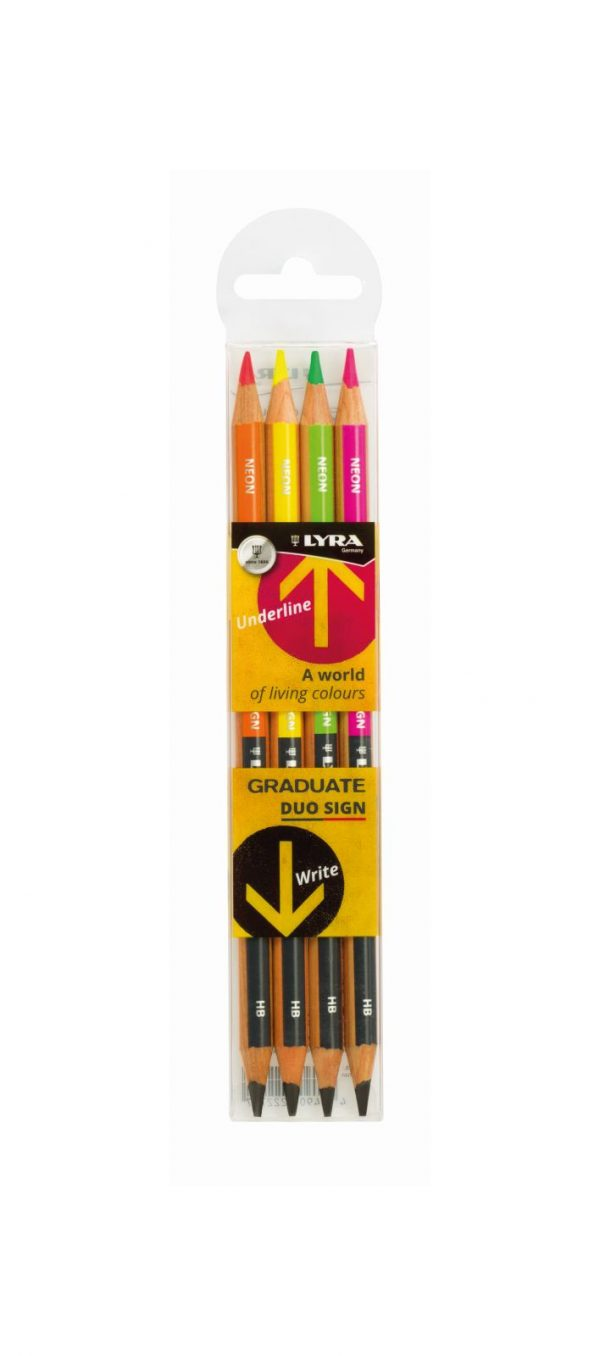 LYRA GRADUATE DUO-SIGN AST 4pz - matita evidenziatore LYRA GERMANY